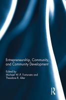 Entrepreneurship  Community  and Community Development PDF