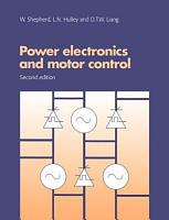 Power Electronics and Motor Control PDF