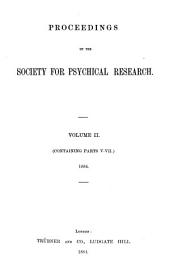 Proceedings of the Society for Psychical Research: Volume 2
