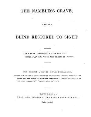 The Nameless Grave  and The Blind Restored to Sight PDF