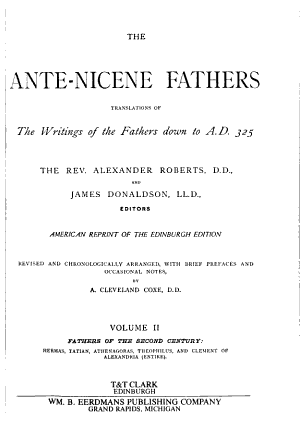Fathers of the Second Century PDF