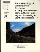 The Archaeology of Standing Rock Overhang PDF