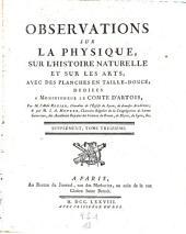 Observations et memoires sur la physique, sur l'histoire naturelle, et sur les arts et metiers: Volume13