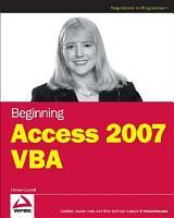 Beginning Access 2007 VBA PDF