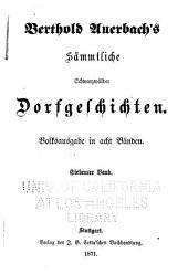 Berthold Auerbachs schriften: Zweite serie. Romane