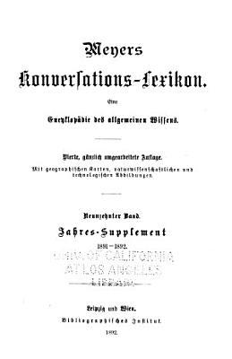 bd  Zweites jahres supplement 1891 92 PDF