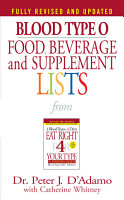 Blood Type O Food  Beverage and Supplement Lists PDF
