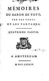 Mémoires du baron de Tott sur les turcs et les tartares, 4: Partie2