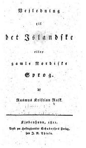Vejledning til det islandske eller gamle nordiske sprog
