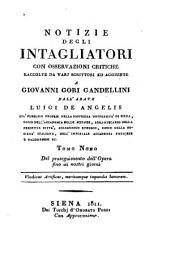 Notizie istoriche degli intagliatori: Volume 9