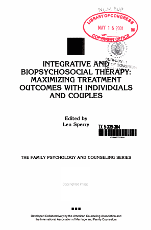 Integrative and Biopsychosocial Therapy PDF