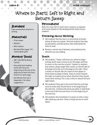 Writing Lesson Level 1 Left To Right And Return Sweep Book PDF