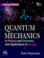 QUANTUM MECHANICS IN PHYSICS AND CHEMISTRY WITH APPLICATIONS TO BIOLOGY PDF