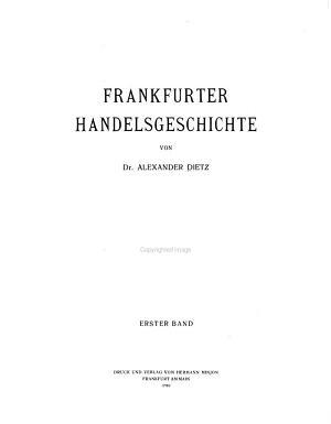 Frankfurter handelsgeschichte PDF