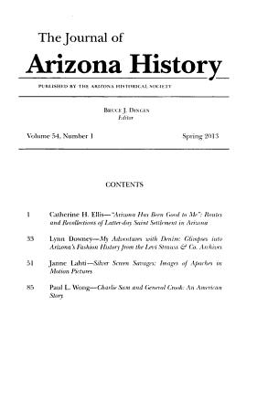 The Journal of Arizona History PDF