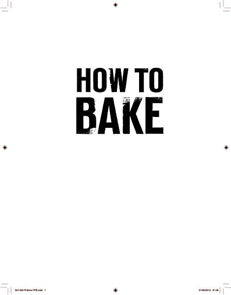 Download How to Bake Book