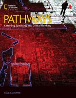 Pathways  Listening  Speaking  and Critical Thinking 4 PDF