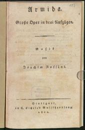 Armida: große Oper in drei Aufzügen