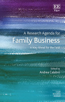 A Research Agenda for Family Business
