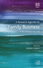 A Research Agenda for Family Business PDF