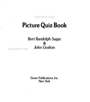 Baseball Picture Quiz Book PDF