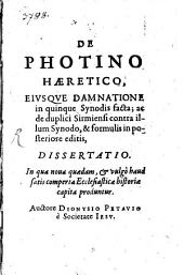 De Photino haeretico dissertatio