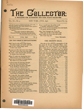 The Collector: A Monthly Magazine for Autograph and Historical Collectors, Volume 11, Issue 9