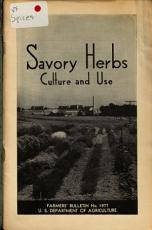 Savory Herbs  Culture and Use PDF