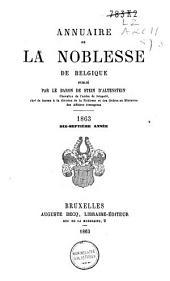 Annuaire de la noblesse de Belgique: Volume17