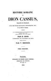 Histoire romaine de Dion Cassius: Volume5
