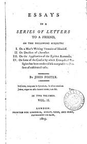 Essays in a series of letters to a friend