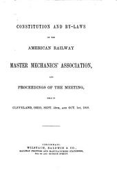 Report of Proceedings of the ... Annual Convention of the American Railway Master Mechanics' Association: 1868/69-1872, 1875, Volumes 1-5