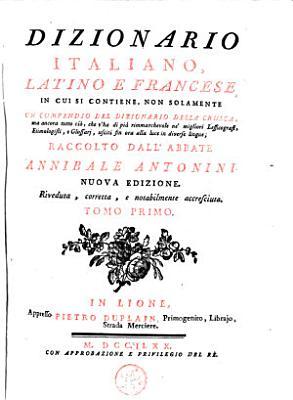 Dizionario italiano  latino e francese  PDF
