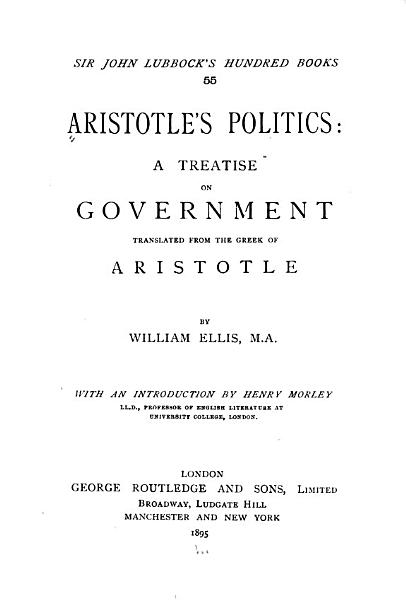 Aristotle s Politics