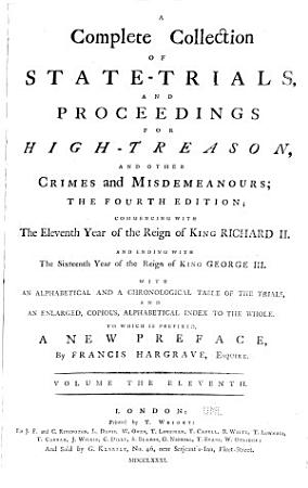 A Complete Collection of State trials  and Proceedings for High treason  and Other Crimes and Misdemeanours  1494 5 PDF