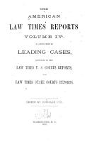 The American Law Times Reports  1868 1873  PDF