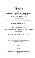 Merlin Or the Early History of King Arthur PDF