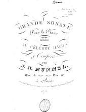 Grande sonate pour le piano, oeuv. 13