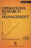 Operations Research for Management PDF