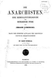 Die Anarchisten: eine kriminalpsychologische und sociologische Studie