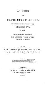 An Index of Prohibited Books