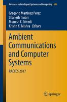 Ambient Communications and Computer Systems PDF