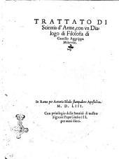 Trattato di scientia d'arme, con vn dialogo di filosofia di Camillo Agrippa milanese