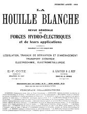 La Houille blanche: Volume1
