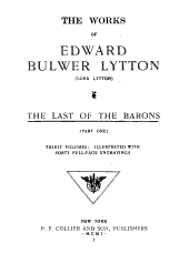 The Works of Edward Bulwer Lytton: The last of the barons