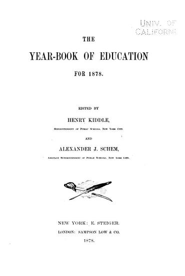 The Year book of Education for 1878  and 1879  PDF