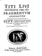 Historiam libri XCI fragmentum anekdoton