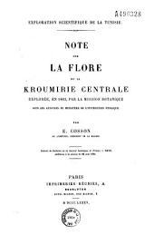 Note sur la flore de la Kroumirie centrale explorée en 1883 par la Mission botanique sous les auspices du Ministère de l'Instruction publique