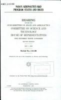 NASA s Aeronautics R   D Program PDF