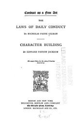 Conduct as a Fine Art: The Laws of Daily Conduct